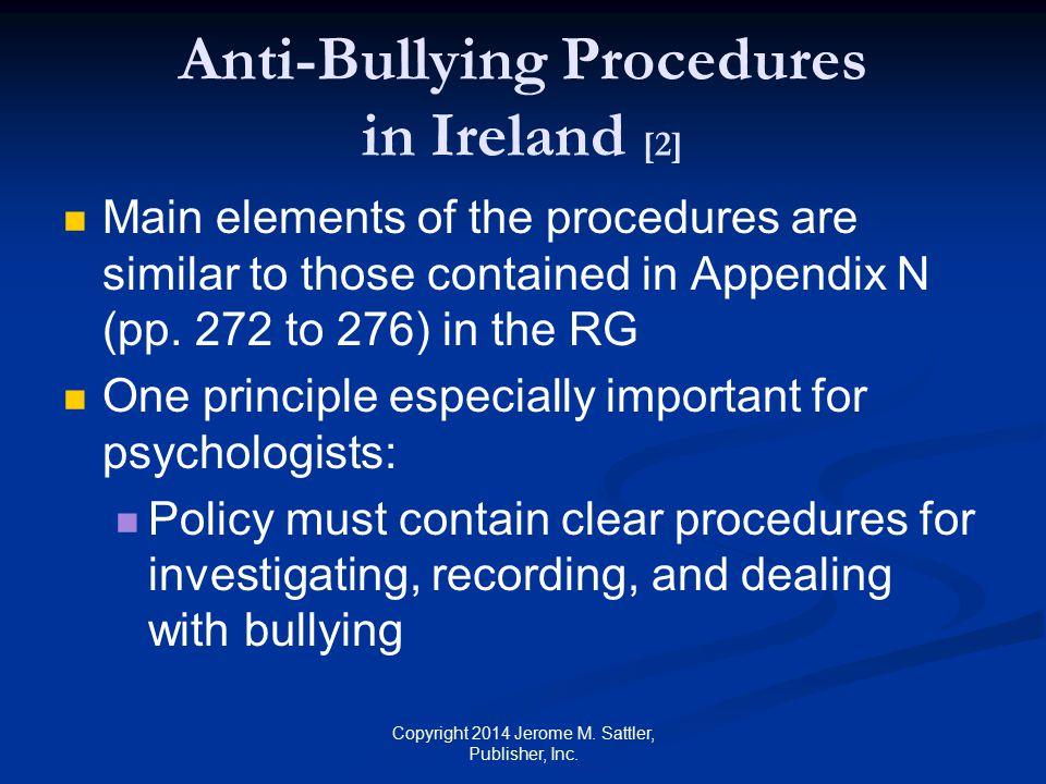 Anti-Bullying Procedures in Ireland [2]